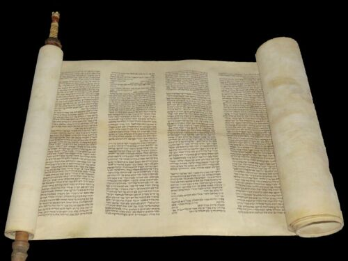 Ancient Torah Bible Scroll complete Book of Leviticus 100-150 years old Europe