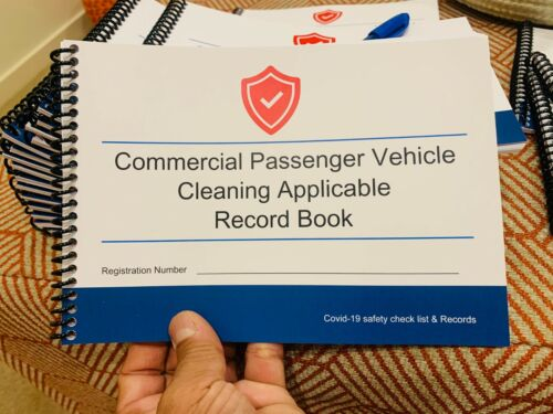 Commercial Passenger Vehicle Cleaning Record Book A5 Size 1026 Entries In 54page
