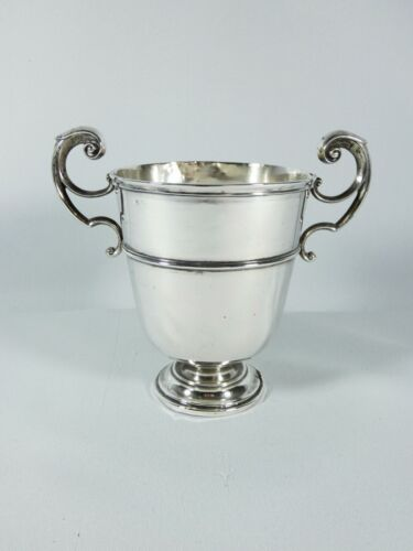 Antique Edwardian 1918 Sterling Silver Twin Handle Trophy Cup Chalice Garrard Co