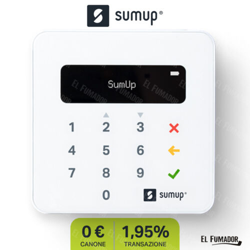 SumUp Air POS mobile. Lettore carte di credito contactless NFC, Bluetooth, Wi-Fi