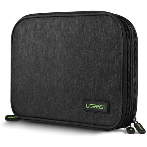 UGREEN Electronic Accessories USB Cable Storage Case Travel Organizer Bag