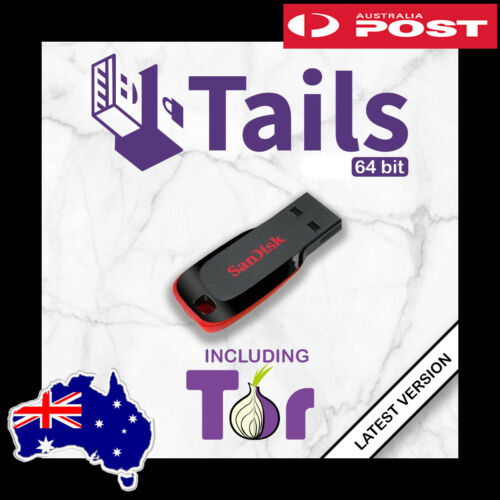 TAILS OS V.4.18 Live USB - Securely Browse Internet with Tor - TRACKED POSTAGE