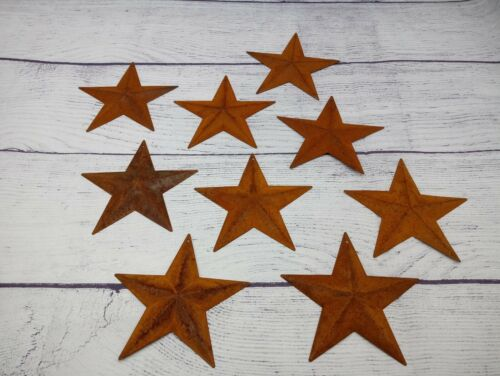 """50 Rusty 3.75"""" (3-3/4"""") Country Stars, 3D, Rusted, Hanging Star,"""
