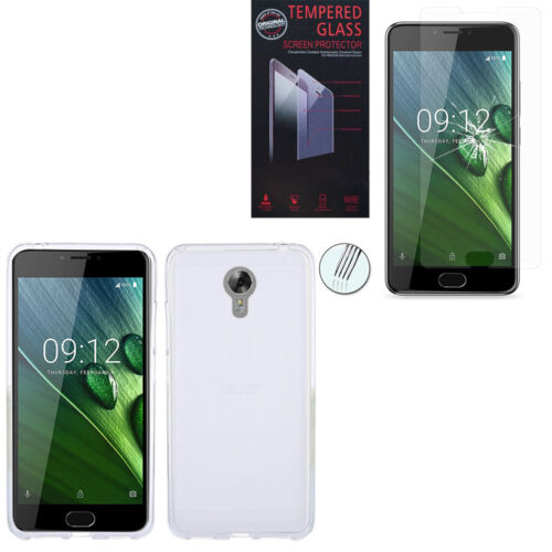 """Case Cover Silicone Soft Gel for Acer Liquid Z6 Plus 5.5 """" + Film Toughened"""