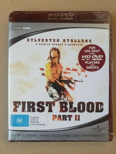 FIRST BLOOD PART II - Sylvester Stallone -     HD DVD  new