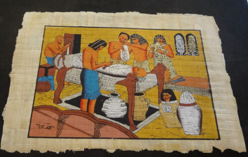 AUTHENTIC EGYPTIAN PAINTING ON PAPYRUS: b
