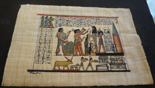 AUTHENTIC EGYPTIAN PAINTING ON PAPYRUS: c
