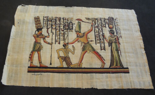 AUTHENTIC EGYPTIAN PAINTING ON PAPYRUS: g