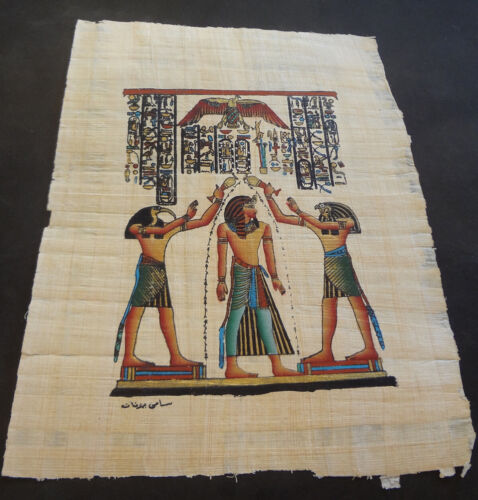AUTHENTIC EGYPTIAN PAINTING ON PAPYRUS: k