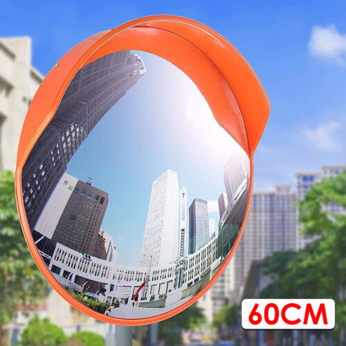 """60cm 24"""" Outdoor Road Traffic Convex Mirror Wide Angle Driveway Safety Security"""