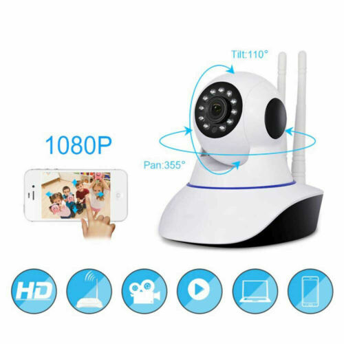TELECAMERA 1080P HD WIRELESS INTERNA SD IP CAMERA MOTORIZZATA IR INFRAROSSI WIFI