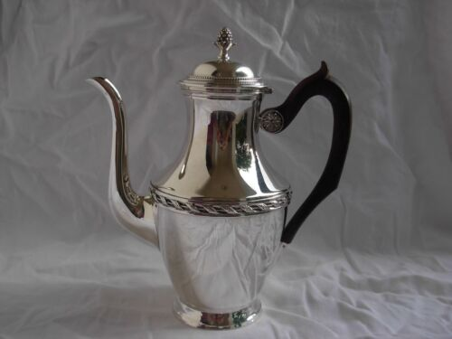 ANTIQUE FRENCH STERLING SILVER COFFEE,TEA POT,LOUIS XVI STYLE,EARLY 20th CENTURY