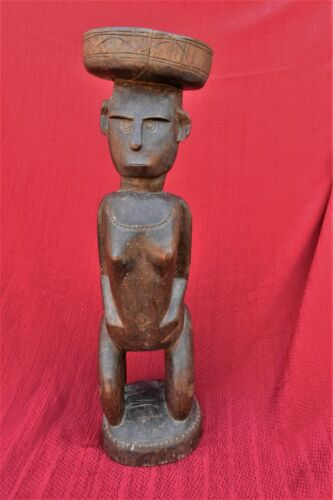 OLD HEAVY HAND CARVED HARD WOOD  CARVING TROBRIAND ISLANDS PAPUA NEW GUINEA