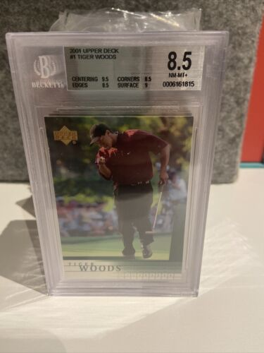 Tiger Woods 2001Upper Deck #1 BGS 8.5 Qty Available.