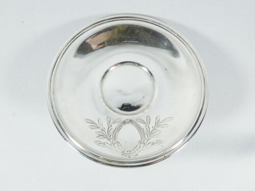 Antique Vintage German 800 Solid Silver Small Saucer Plate Dish Tray Germany
