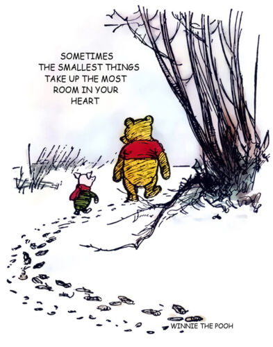 Winnie The Pooh Sometimes The Smallest Things Print 11 x 14 #3637