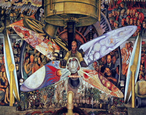 Diego Rivera Man Controller Of The Universe Canvas Print 16 x 20  #5484