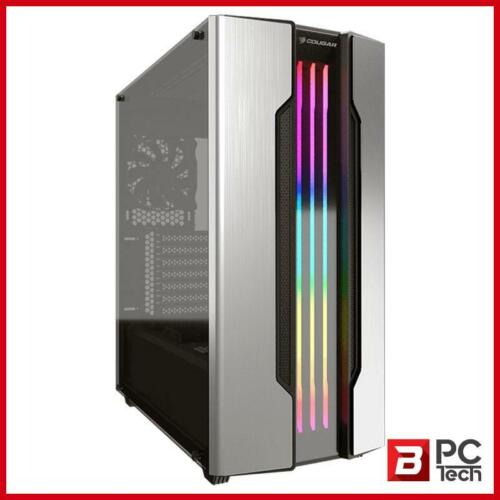 Cougar Gemini S RGB Tempered Glass Mid-Tower ATX Case - Silver