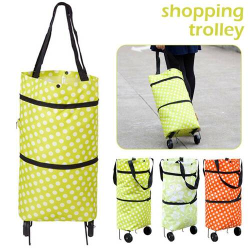 Foldable Shopping Cart Trolley Portable Folding Grocery Bag Tote Market 🌍