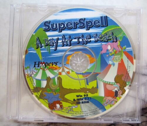 Hoopers Multimedia Super Spell A Day At The Beach Win 95 & Win 3.11 CD-ROM