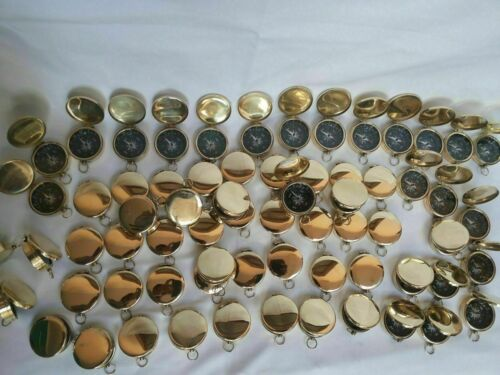 Nautical Brass Compass Lot Of 100 Pieces Marine Collectible Decor Compass