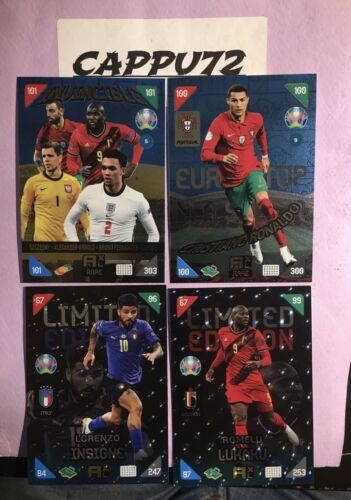 RARE LIMITED EDITION-CARDS EURO 2020 KICK OFF -ADRENALYN XL 2021-PANINI