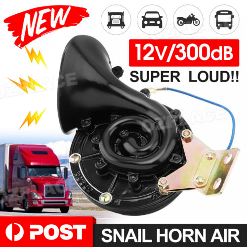 300DB 12V Electric Snail Horn Air Horn Raging Sound For Car Auto Boat Truck AU