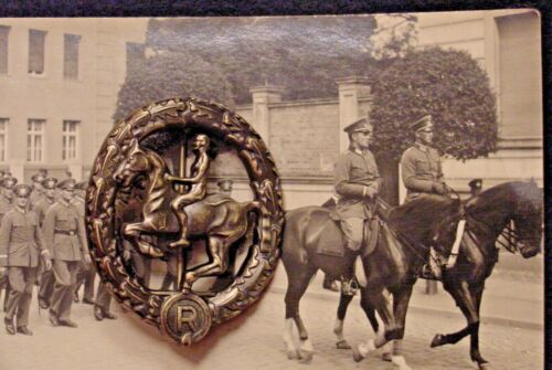 GERMAN WWII  WEHRMACHT CAVALRY - EQUESTRIAN / HORSEMANSHIP BADGE IN BRONZE Reproductions - 156372
