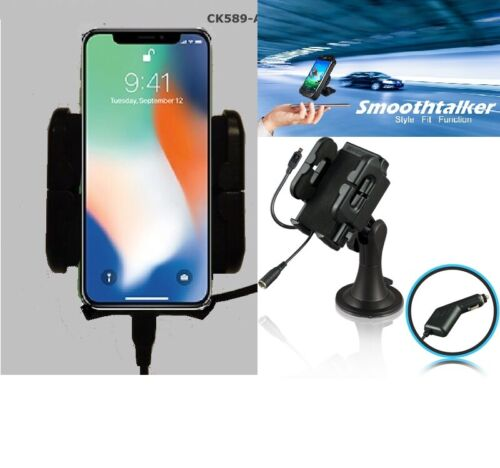 iPhone X XS 11 12 car cradle + ext antenna connection-Smoothtalker XR XS car kit