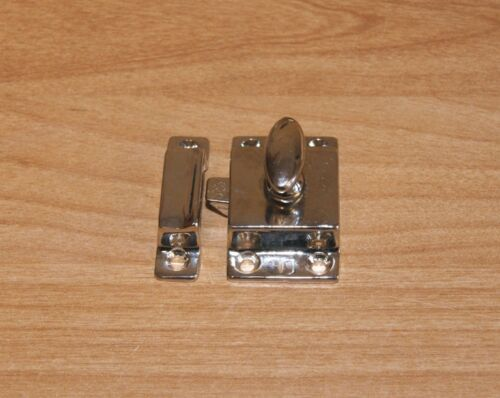 Cabinet Latch Brass Heavy Cast Nickel Plated For Doors Farm House Kitchen