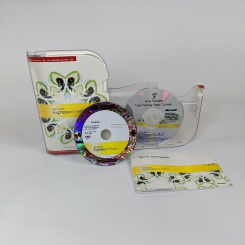 Microsoft Silverlight Expression Web 2 CD-ROM with Case and codes