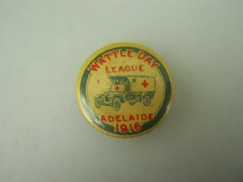 1916 Wattle Day League metal pin back badge Adelaide                        11221914 - 1918 (WWI) - 13962