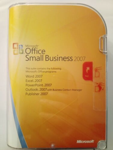Microsoft Office Small Business 2007, for Windows, new and sealed, genuine
