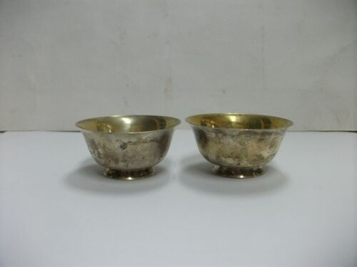 Japanese Antique Sterling Silver SAKE cup 2 pieces  #27g./0.95oz