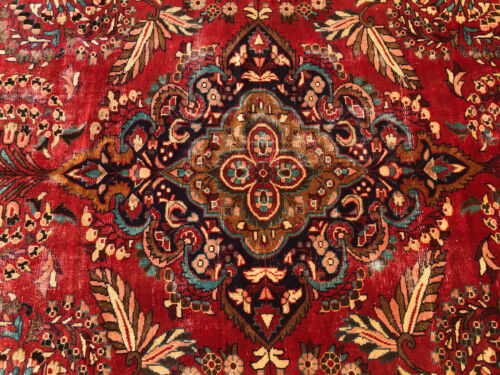 6x10 RED VINTAGE RUG HAND-KNOTTED wool handmade antique oriental 5x9 5x10 6x9 ft