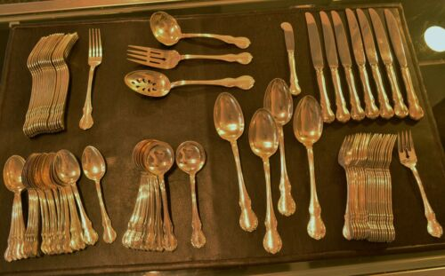 TOWLE FRENCH PROVINCIAL 925 STERLING SILVER 84 PIECE FLATWARE SET