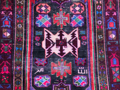 5x10 ANTIQUE RUG HAND-KNOTTED wool oriental vintage handmade caucasian old 4x10