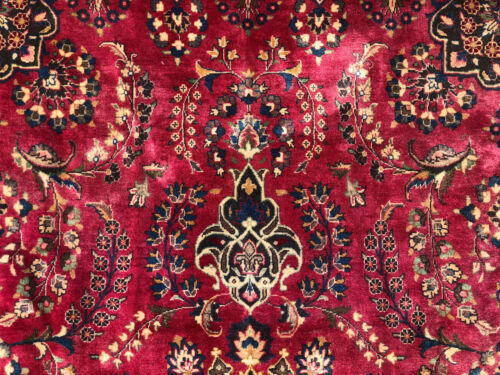 8x11 VINTAGE RUG HAND-KNOTTED ANTIQUE ORIENTAL handmade handwoven big old 8x12