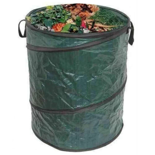 Large Round Self Standing Pop Up Garden Waste Recycling Carry Bag with Handles