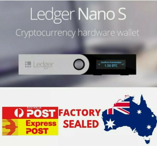 LEDGER NANO S Cryptocurrency Hardware Wallet **Brand New Sealed**