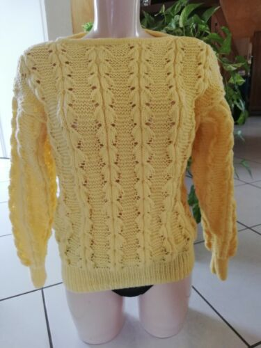 Pull femme tricoté main taille 42