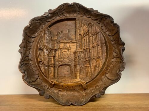 Vintage Wooden Rouen Wall Decor Made In France