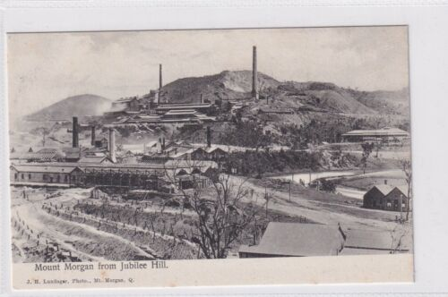 VINTAGE POSTCARDS    MOUNT MORGAN FROM JUBILEE HILL