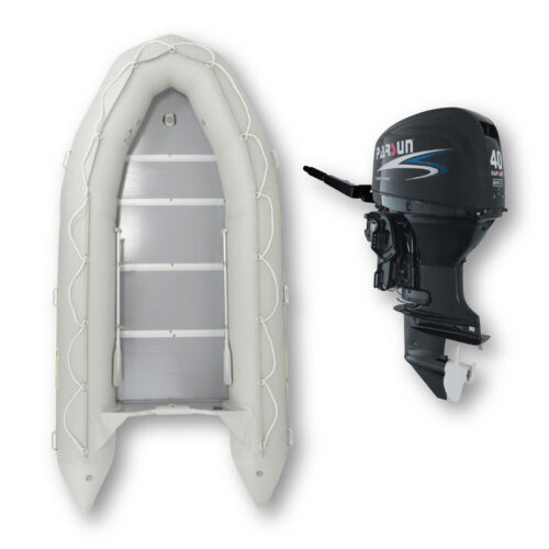 4.3m ISLAND INFLATABLE BOAT + 40HP PARSUN OUTBOARD ✱ UNBEATABLE PACKAGE DEAL â