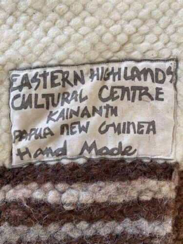 Vintage pure wool floor mat from PNG highlands