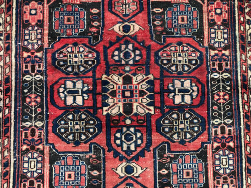 4x6 ANTIQUE RUG HAND-KNOTTED wool oriental vintage handmade caucasian red 4x7 ft