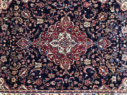 6x9 BLUE ANTIQUE RUG HAND-KNOTTED VINTAGE wool handmade traditional formal 6x10