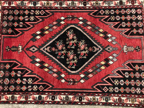 4x6 ANTIQUE RED RUG HAND-KNOTTED wool oriental vintage handmade caucasian 4x7 ft
