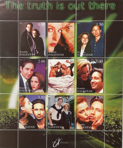 X-FILES STAMPS 1999 MNH SCI-FI SCIENCE FICTION PRIVATE ISSUE DUCHOVNY ANDERSON g