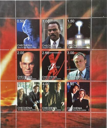 X-FILES STAMPS 1999 MNH SCI-FI SCIENCE FICTION PRIVATE ISSUE DUCHOVNY ANDERSON r